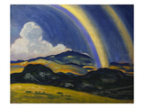 The Rainbow, Wales Giclee Print by Derwent Lees