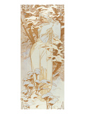 Winter Giclee Print by Alphonse Mucha