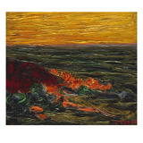 Seascape Yellow Sky Brittany Giclee Print by Roderic O&#39;Conor