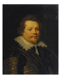 Portrait of a Gentleman, Bust Length, in Armour and a Gold and Silver Embroidered Doublet and Giclee Print by Jan Anthonisz. Van Ravesteyn