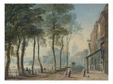 Cheyne Walk, Chelsea, London Giclée-Druck von John Varley