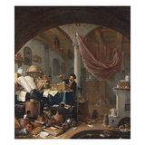 An Alchemist in His Study Giclee Print by Thomas Wyck