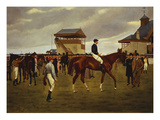 Sir Horace Farquhar's Chestnut Colt 'Nouveau Riche' in the Winner's Enclosure, Newmarket Posters by Isaac J. Cullin