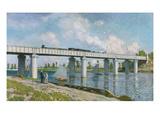 The Iron Track Bridge at Argenteuil; Pont Du Chemin De Fer a Argenteuil Giclée-tryk af Claude Monet