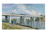 The Iron Track Bridge at Argenteuil; Pont Du Chemin De Fer a Argenteuil Giclee Print by Claude Monet