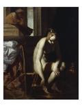 David and Bathsheba Prints by Luca Cambiaso