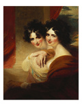 Congratulations: Portraits of Two Ladies, Half Length, before a Colonnade Prints by George Henry Harlow