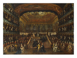 The Dinner and Ball in the Teatro San Benedetto Venice on 22 January 1782 in Honour of the Conti… Prints by Francesco Guardi