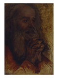 Study of Old Man's Head for Jesus Among the Doctors; Etude De Tete De Vieillard Pour Jesus Au… Posters by Jean-Auguste-Dominique Ingres