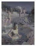 The Bathers; La Baignade Giclee Print by Etienne Alphonse Dinet
