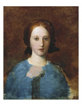 Portrait of Mrs Prescott Decie, Bust Length, in a Blue Dress - a Sketch Posters by George Frederick Watts