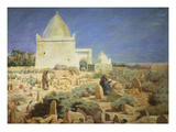 Arabs in a Cemetery Giclee Print by Jules Charles Clement Taupin