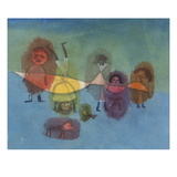 Small Children; Kindergruppe Giclee Print by Paul Klee