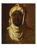 An African Wearing a Turban - a Sketch Art by Peter Paul Rubens