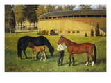 The Training Track on the Fairgrounds Prints by Henry H. Cross
