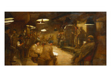 Interior of the 'Rustic Art Club' Giclee Print by Robert Sherar
