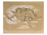 A Putto Trying to Steal Cupid&#39;s Arrows Giclee Print by William Adolphe Bouguereau