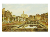 The House of the Vestal Virgins, Rome Giclee Print by Josef Theodor Hansen