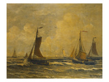 A Fishing-Fleet Sailing Out Giclee Print by Hendrik Willem Mesdag