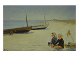 Boys on the Beach at Skagen Giclee Print by Peder Severin Kröyer