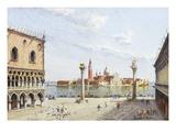 The Piazzetta, Venice, with San Giorgio Maggiore Beyond Giclee Print by Antonietta Brandeis