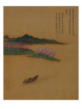 Hermit Fishing on the Peach Blossom Stream, in the Style of Zhao Mengfu, from an Album of Ten… Lámina giclée por Yun Shouping