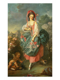 Portrait of Mademoiselle Guimard as Terpsichore Giclee Print by Jacques-Louis and Jean-Honore David and Fragonard
