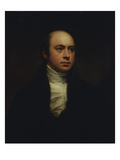 Portrait of English Sculptor, Sir Francis Chantrey (1781-1841), in a Dark Jacket and White Cravat Poster by Sir Henry Raeburn
