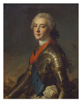 Portrait of Louis-Jean-Marie De Bourbon (1725-1793), Duc De Penthievre in Armour, with the Order… Giclée-tryk af Jean-Marc Nattier