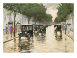 A Berlin Street in the Rain; Berliner Strasse Im Regen Giclee Print by Lesser Ury