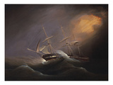 A Three Masted Brig in Stormy Seas Posters by Philip John Ouless