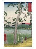 Fuji on the Left of the Tokaido Road, from 'Thirty Six Views of Mount Fuji' Prints by Ando Hiroshige