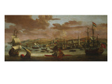 Dutch Men-Of-War and Turkish Galleys Off Constantinople Giclee Print by Jacob Knyff