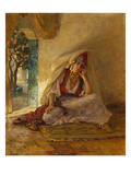 On the Patio Giclee Print by Frederick Arthur Bridgman