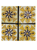Tunisian Glazed Pottery Tiles from a Quantity of Two Hundred,  Each Decorated with a Stylised… Prints
