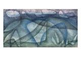 Paul Klee - Rainy Day; Regentag Digitálně vytištěná reprodukce