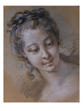 The Head of a Young Girl, Looking Down to the Right Posters by Francois Boucher