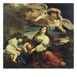 The Angel Appearing to Hagar and Ishmael in the Desert Giclee Print by Giuseppe Ghezzi (Attr to)