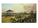 A Race Meeting at Jacksonville, Alabama Giclee Print by W. S. Hedges