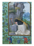 Saint Odilia, from the Hours of Albrecht of Brandenburg Posters