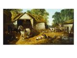Meopham Farmyard Giclee Print by John Frederick Herring II