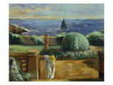 Women on the Terrace at Prefailles; Femmes Sur La Terrasse a Prefailles Giclee Print by Henri Lebasque