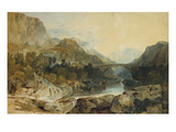 Rosthwaite Bridge, Borrowdale Posters by J. M. W. Turner