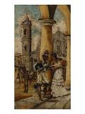 Cortejo En La Plaza Giclee Print by Victor Patricio Landaluze