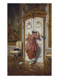 The Curious Maid Premium Giclee Print by Giuseppe Brugo