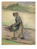 Peasant with Firewood; Paysanne Aux Fagots Prints by Camille Pissarro