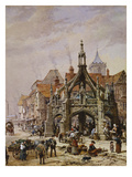 The Market Cross, Salisbury Prints by Louise J. Rayner