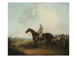 Racehorse with Jockey Up, with Trainer, Grooms, and a Grandstand Beyond Prints by Daniel Clowes (Attr to)
