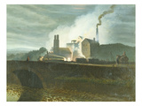 Moonlit Landscapes, Possibly of the Nantyglo Ironworks, Monmouthshire Prints by Penry Williams