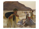 Washing Clothes in the Wadi Giclee Print by Jules Charles Clement Taupin